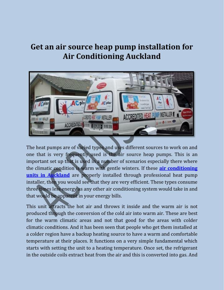 Get an air source heap pump installation for