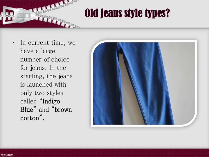 Old jeans style types?