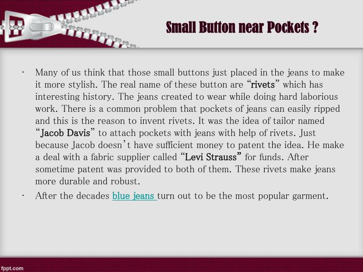 Small Button near Pockets ?
