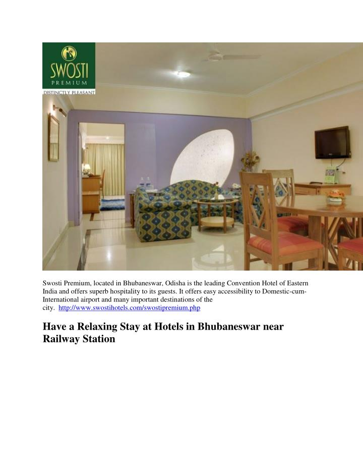 Swosti Premium, located in Bhubaneswar, Odisha is the leading Convention Hotel of Eastern