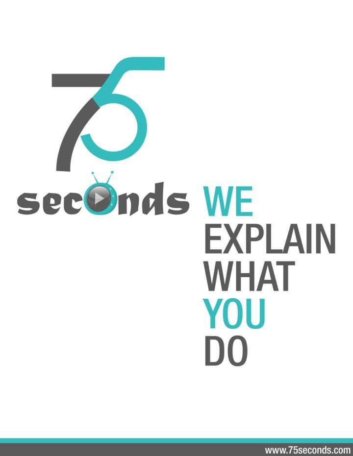 Explainer video always boom your bussiness www 75seconds com an explainer video company