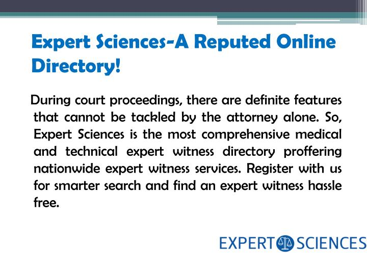 Expert Sciences-A Reputed Online Directory!