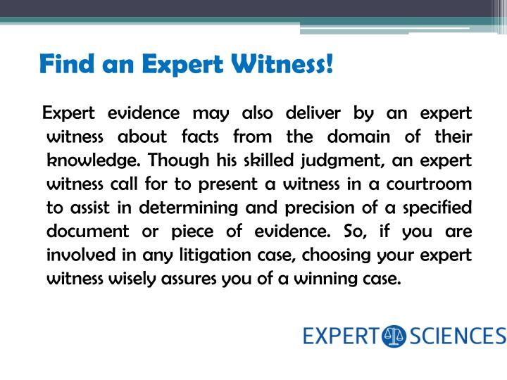 Find an expert witness