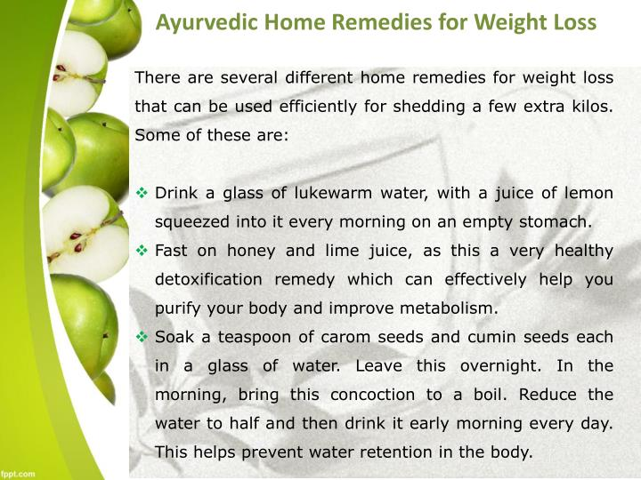 Ayurvedic Home Remedies for Weight Loss