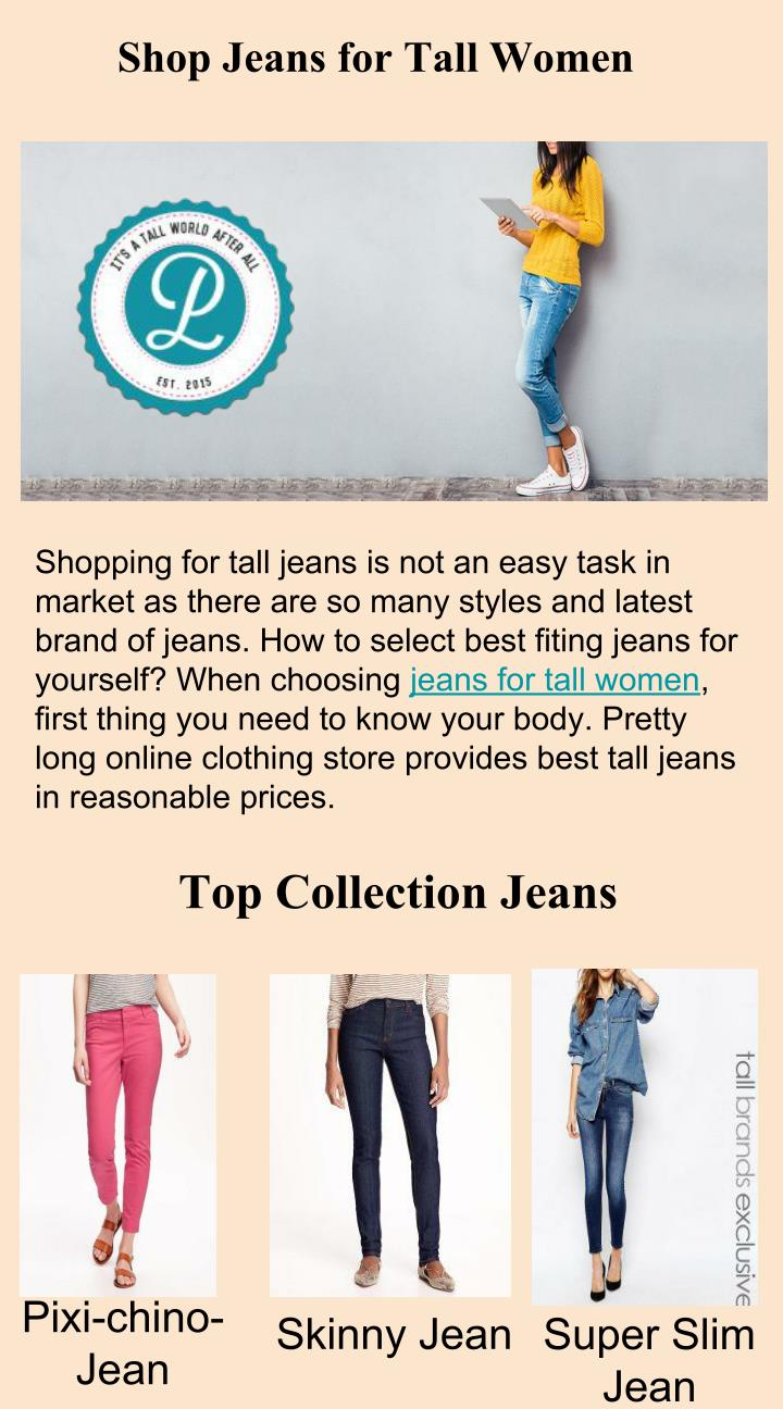 Shop Jeans for Tall Women