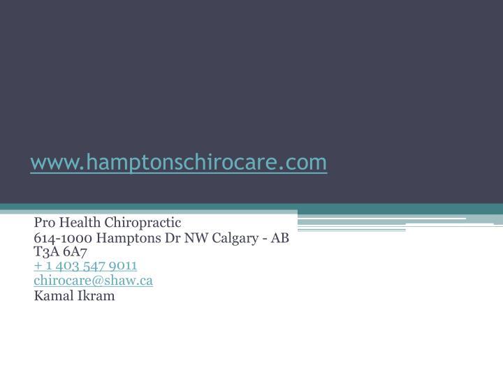 www.hamptonschirocare.com
