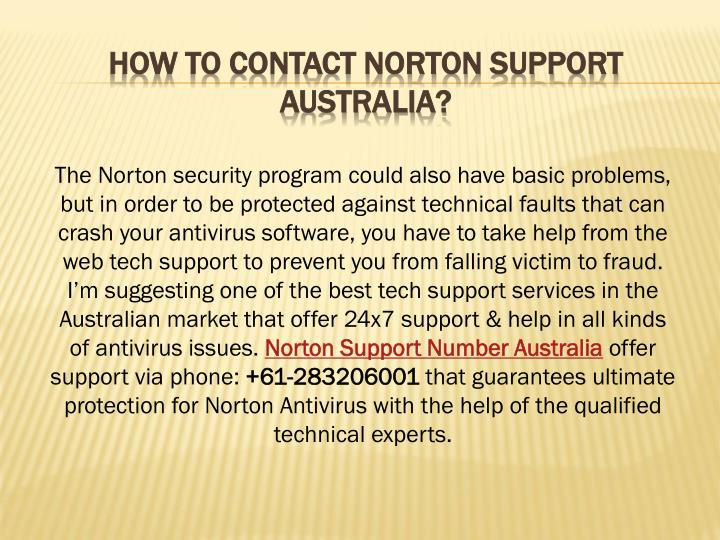 How To Contact Norton Support Australia