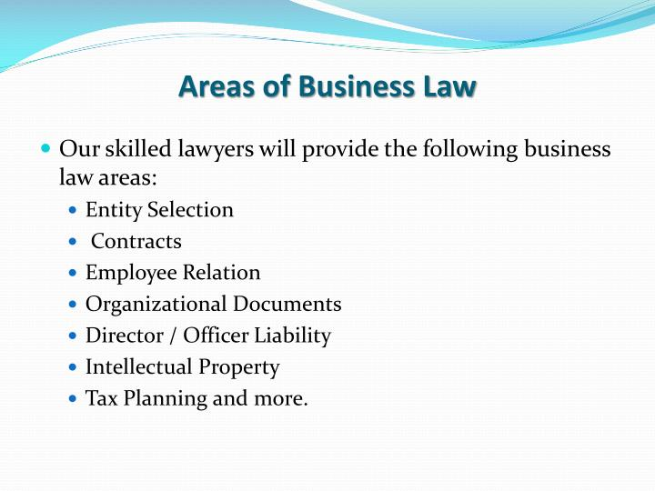 Areas of Business Law