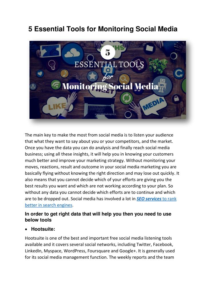 5 Essential Tools for Monitoring Social Media