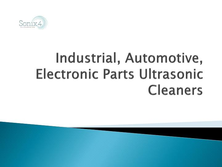 Industrial automotive electronic parts ultrasonic cleaners