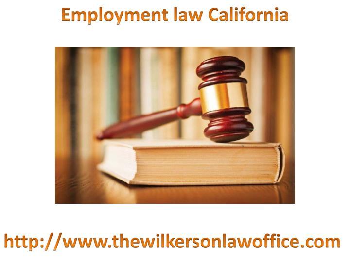 Employment law California