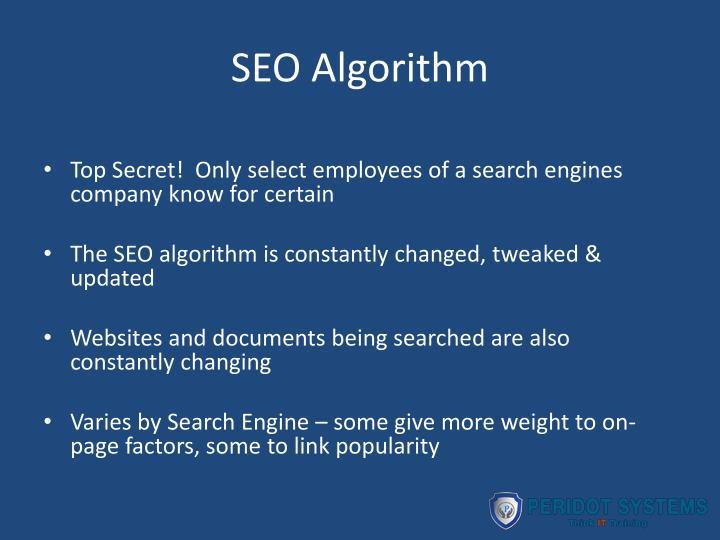 SEO Algorithm