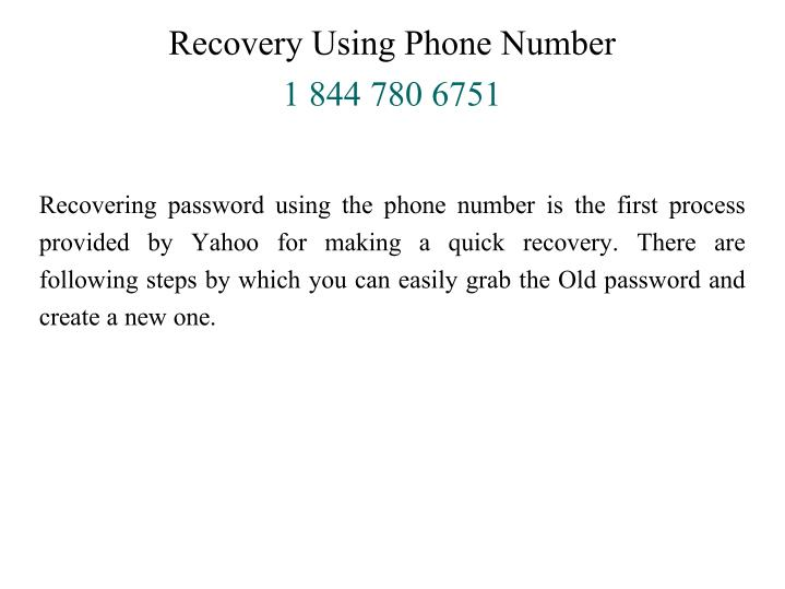 Recovery Using Phone Number