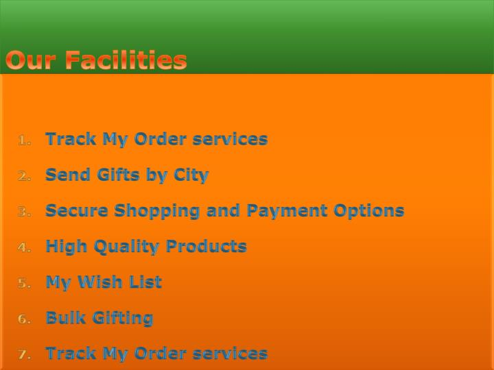 Track My Order services