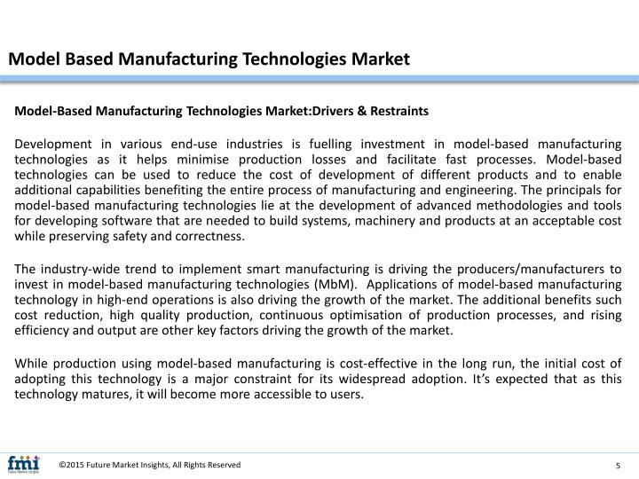 Model Based Manufacturing Technologies Market