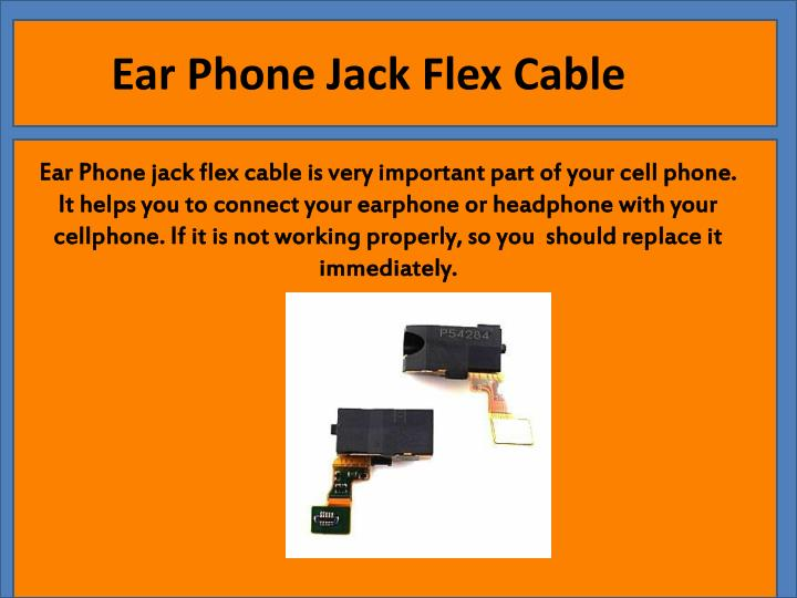 Ear Phone Jack Flex Cable