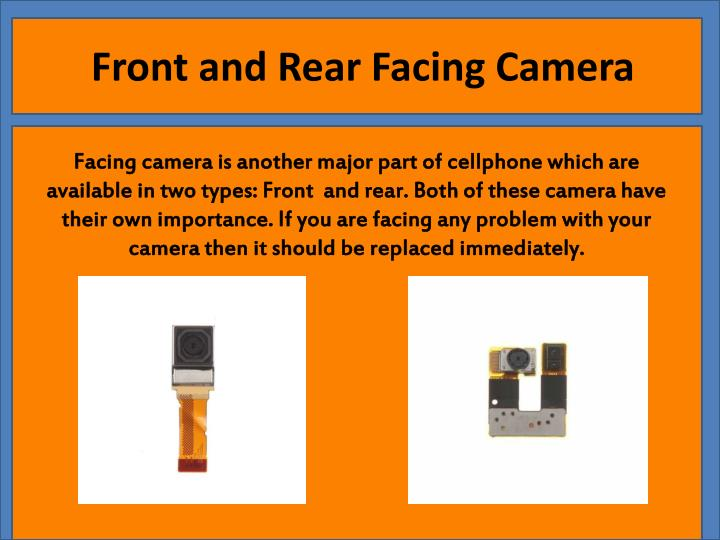 Front and Rear Facing Camera