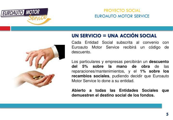 Un servicio = una acción social