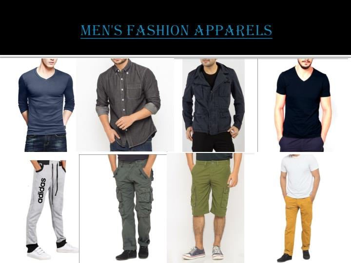 Men s fashion apparels