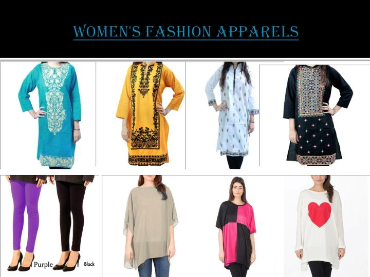 Women s fashion apparels