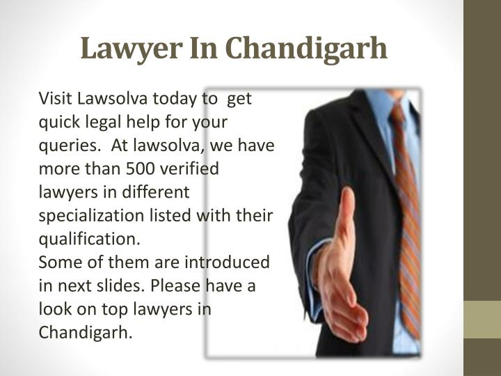Lawyer In Chandigarh