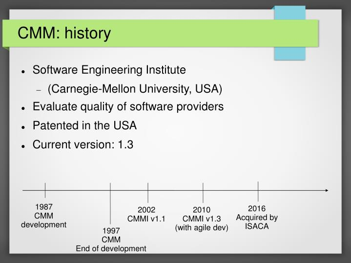 CMM: history
