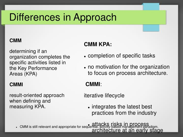 Differences in Approach