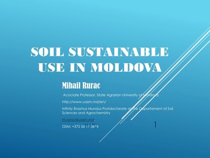 Soil sustainable use in
