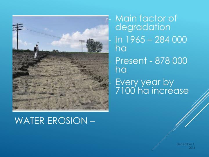 Main factor of degradation