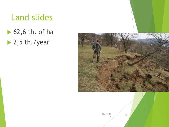 Land slides