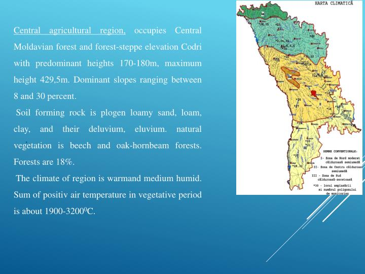 Central agricultural region,