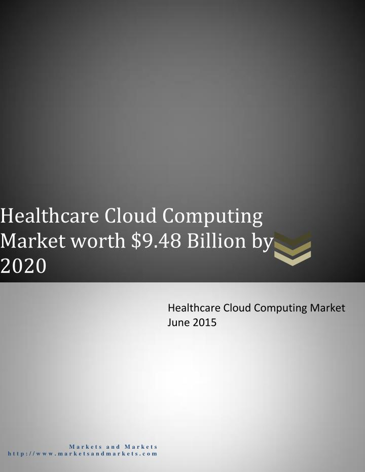 Healthcare Cloud Computing