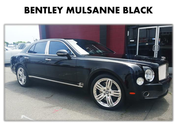 BENTLEY MULSANNE BLACK