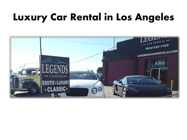 Luxury Car Rental in Los Angeles