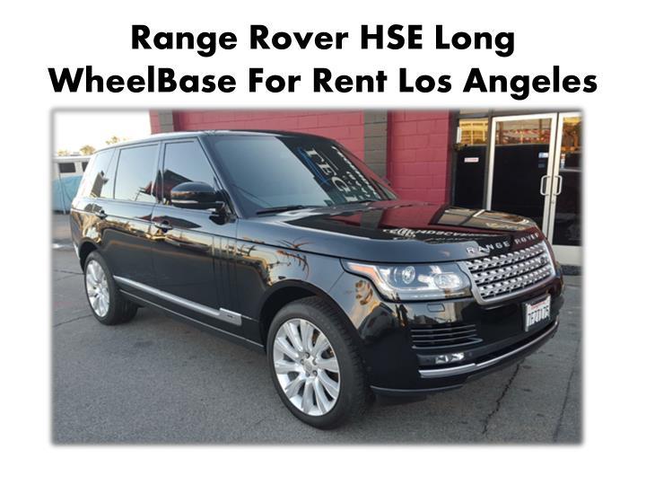 Range Rover HSE Long