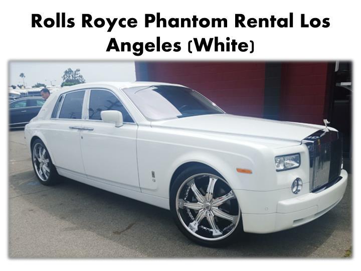 Rolls Royce Phantom Rental Los Angeles (White)