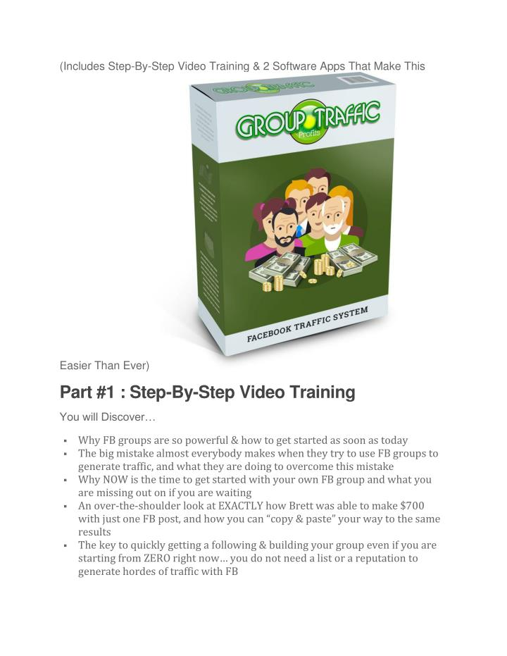 (Includes Step-By-Step Video Training & 2 Software Apps That Make This
