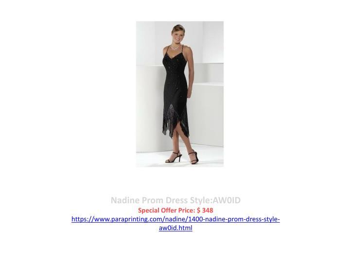 Nadine Prom Dress Style:AW0ID