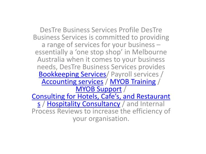 DesTre Business Services Profile DesTre