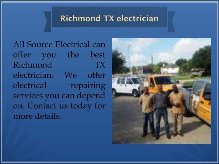 Richmond TX electrician