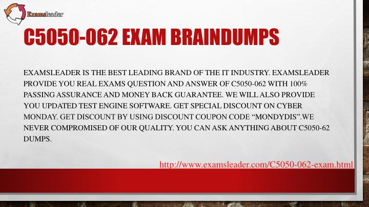 C5050 062 exam braindumps