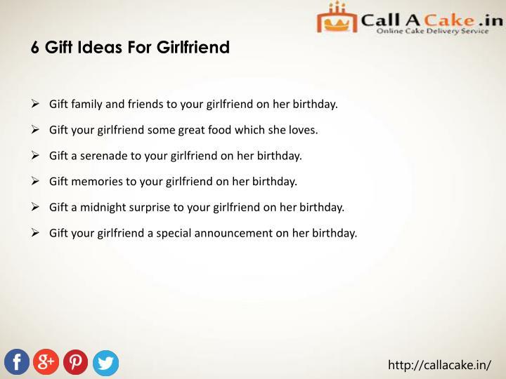 6 Gift Ideas For Girlfriend