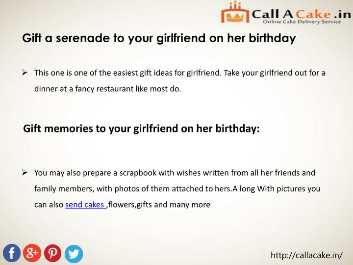 Gift a serenade to your girlfriend on her birthday