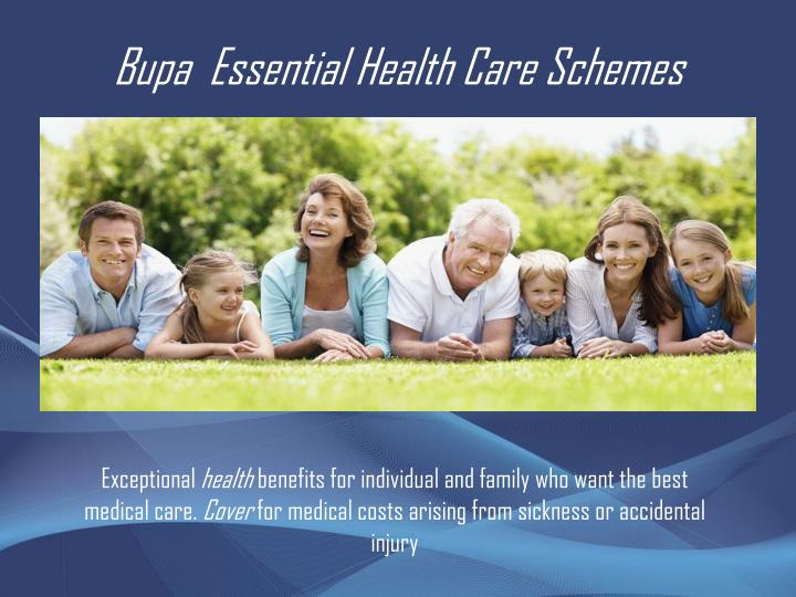 Bupa essential health care schemes