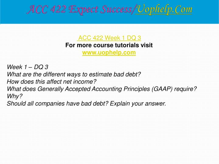 ACC 422 Expect Success/