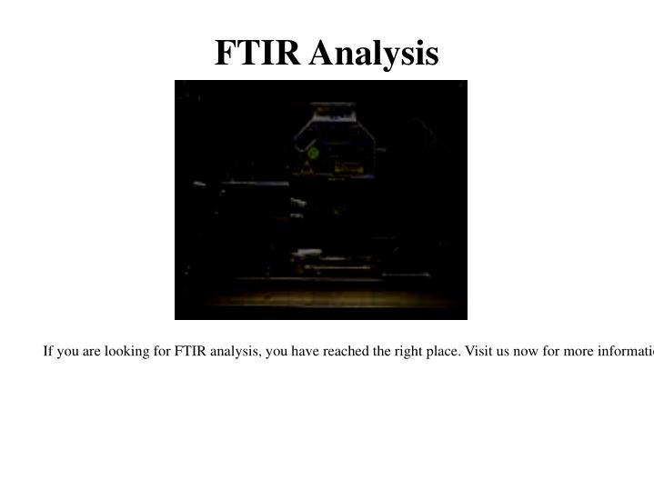 FTIR Analysis