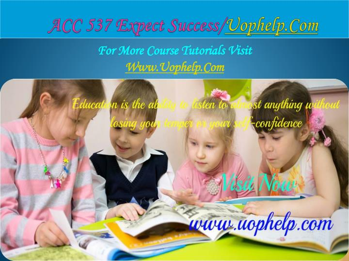 Acc 537 expect success uophelp com