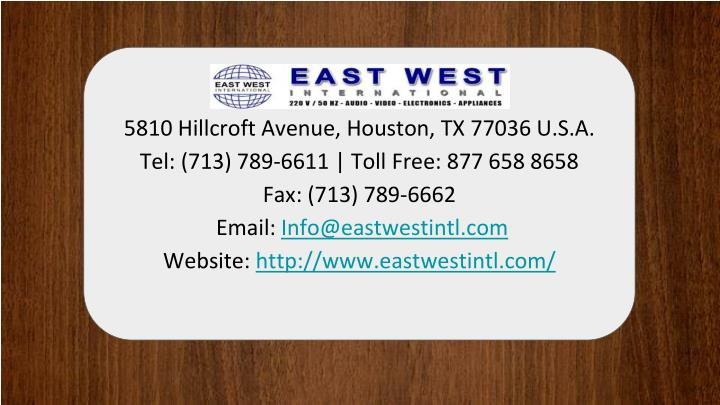 5810 Hillcroft Avenue, Houston, TX 77036 U.S.A.