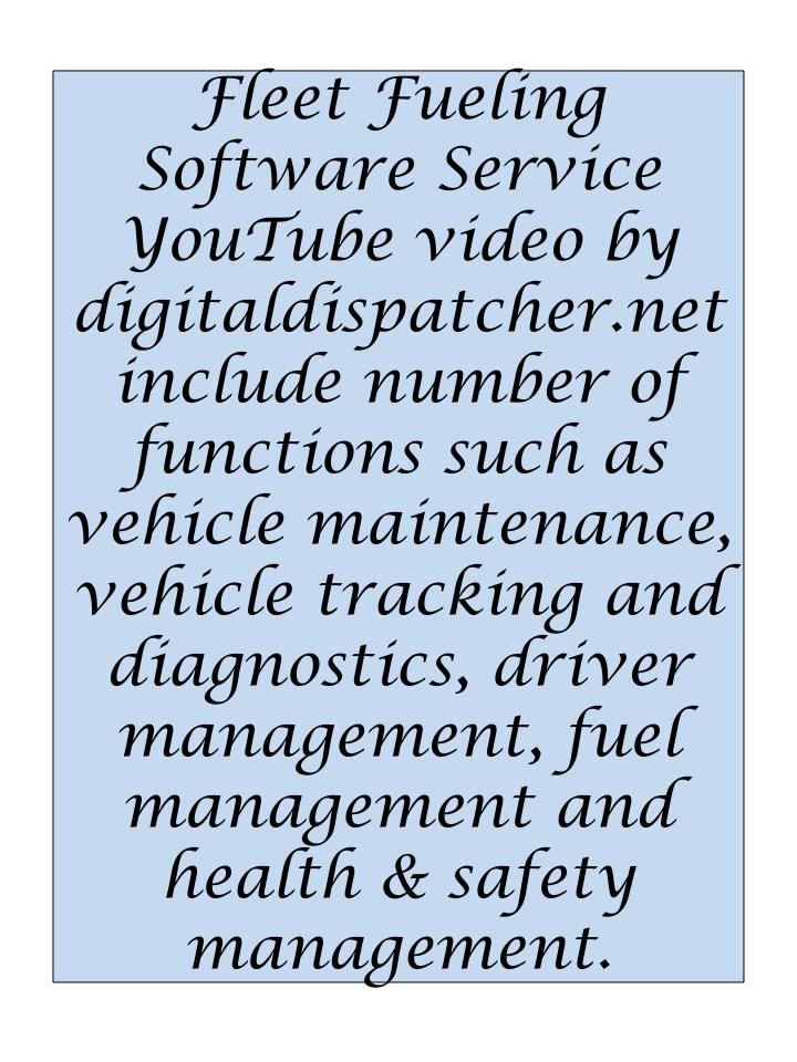 Fleet Fueling Software