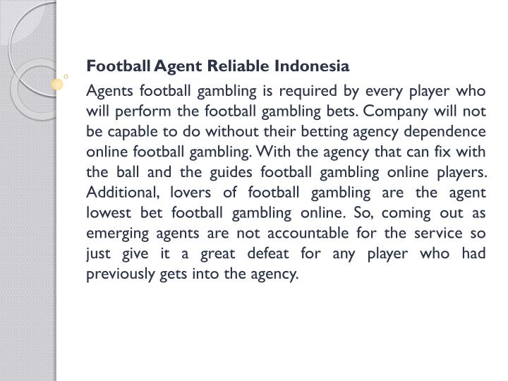 Football Agent Reliable Indonesia
